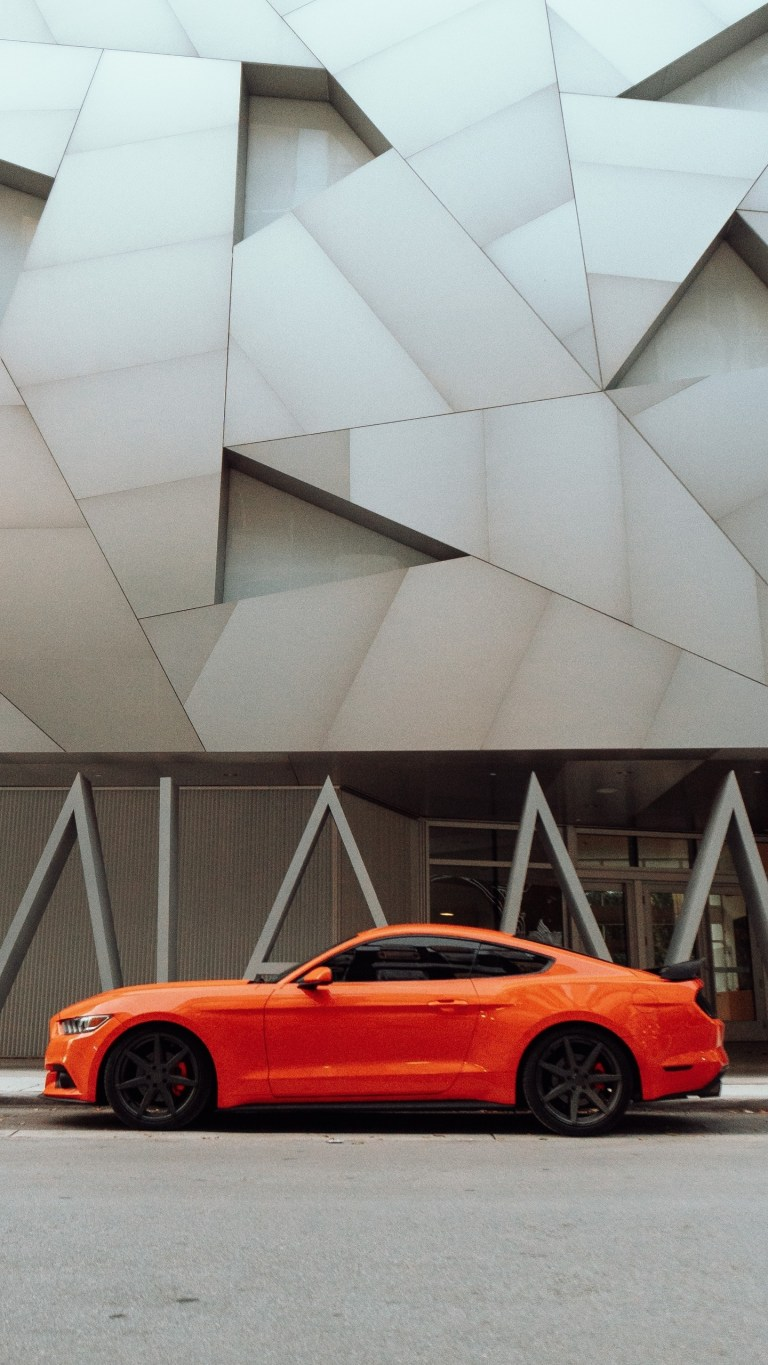 Orange Mustang Muscle Android 4K Wallpapers Download