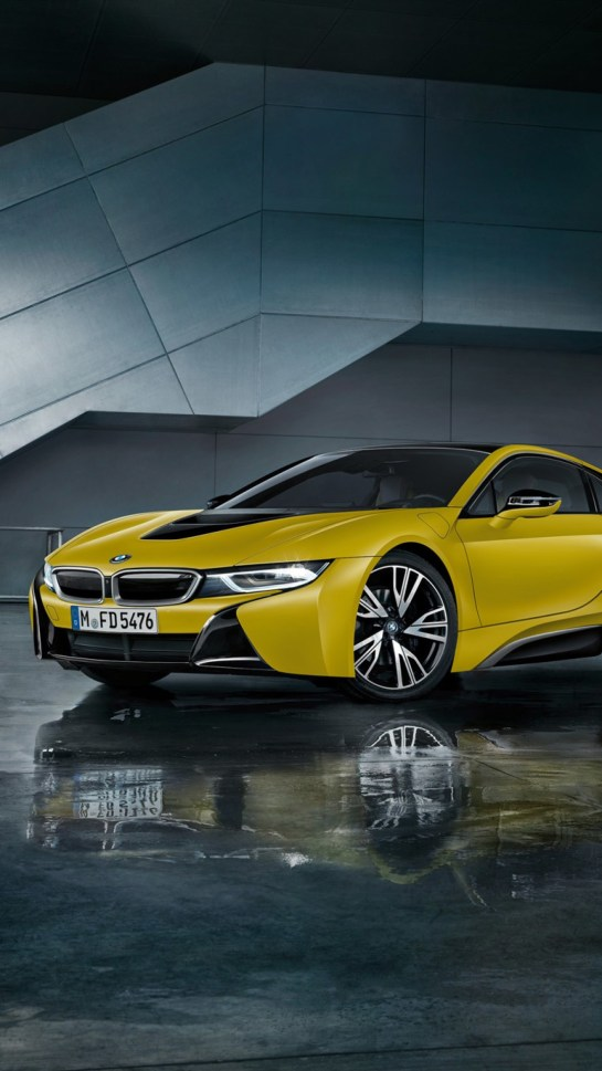Yellow BMW i8 Car iOS Ultra HD Wallpapers Collection