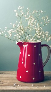 Beautiful Flowers In Red Jug Android Wallpapers