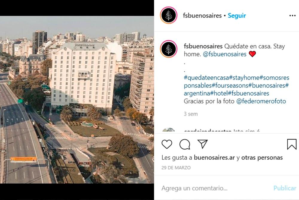 Instagram del Hotel Four Season Bs. As.
