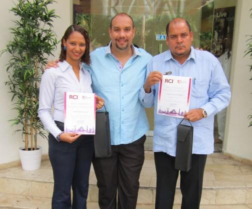 Dionelis Beltre, German Rojas y Vinicio Rafael Caribe