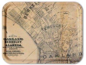 Oakland-Berkeley 1884 TV Tray