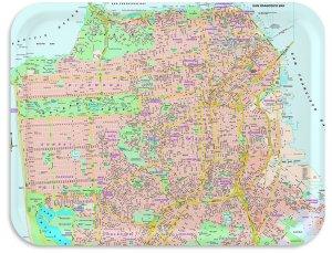 San Francisco Street Map TV tray