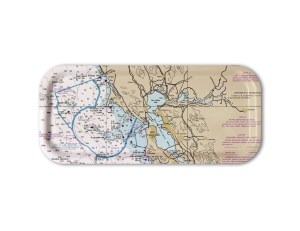 San Francisco to Coos Bay Nautical Snack tray