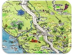 """Sonoma County TV Tray 17""""x13"""""""
