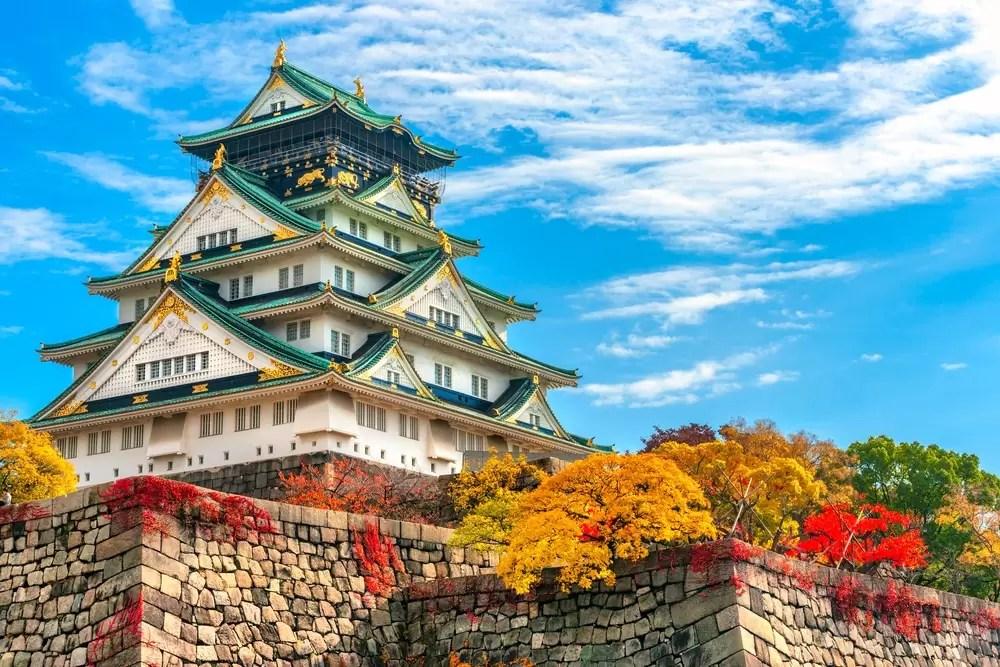 Zamek Osaka jako punkt wyjazdu firmowego do Japonii