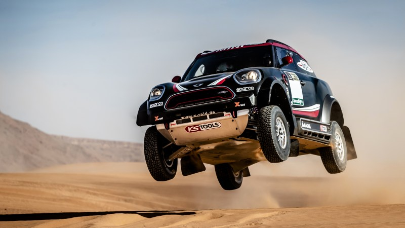 Mit dem neuen Mini John Cooper Works Rally will das X-raid-Team bei der Rally Dakar hoch hinaus.© X-raid / https://www.youtube.com/watch?v=x0S5TLATuFk / TRD Pressedienst