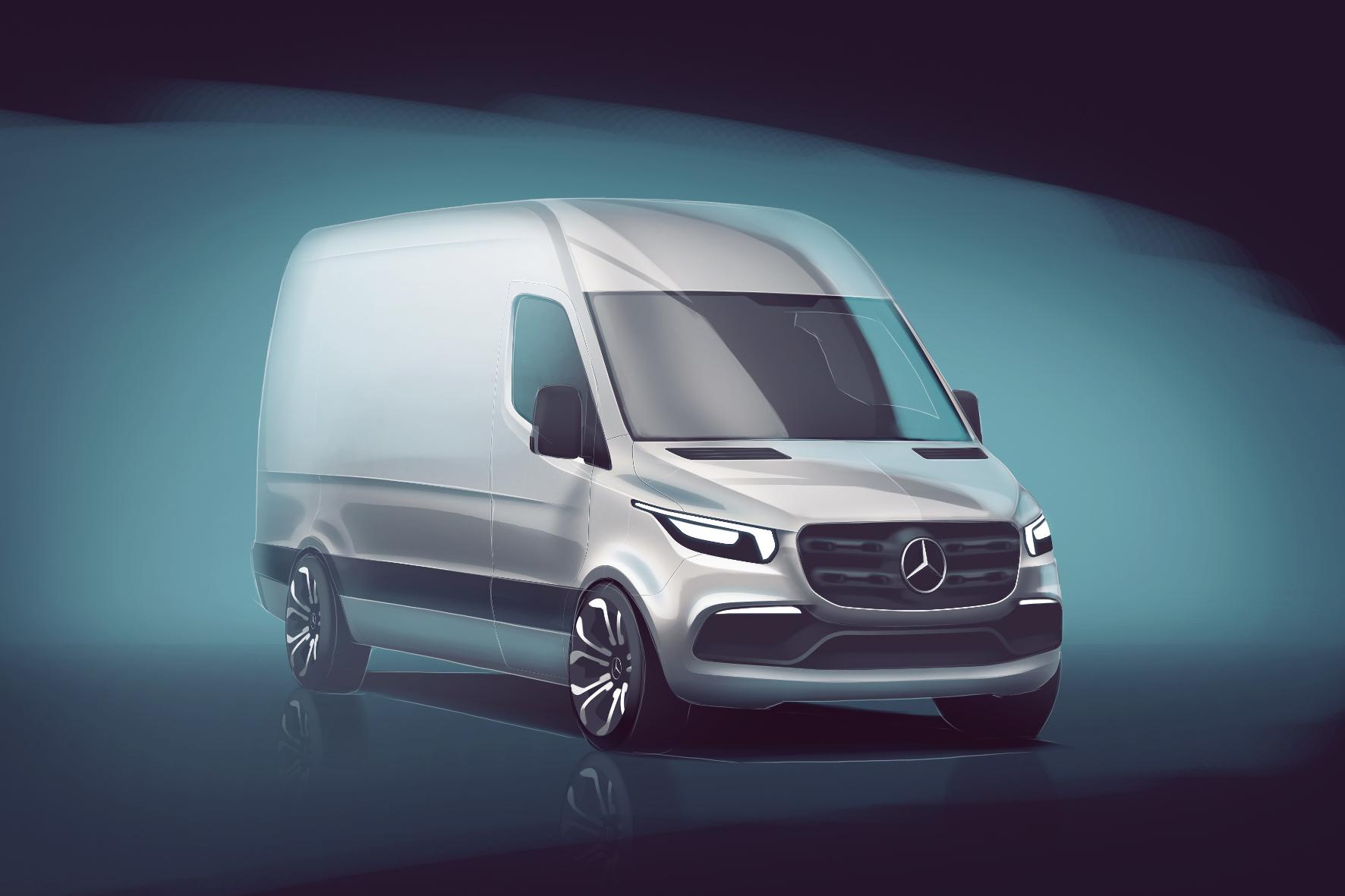 Skizzen vom neuen Mercedes Sprinter