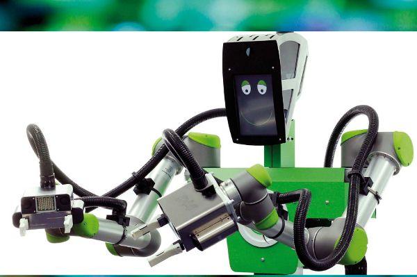 Roboter kochen Kaffee und bedienen die Kundschaft