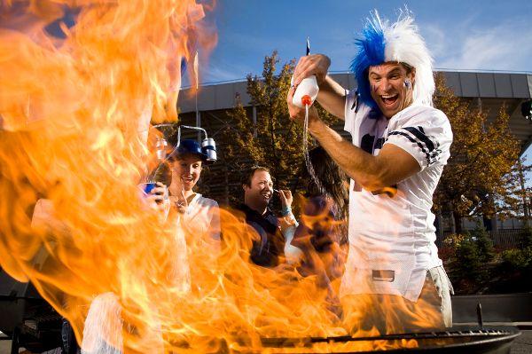 Feuer und Flamme für Fußball