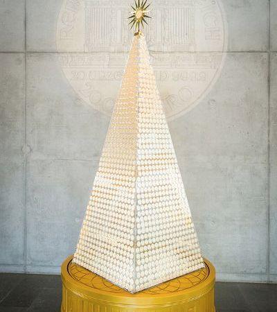 Weihnachtsbaum aus Goldmünzen
