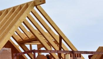 Dachstuhl im Rohbau