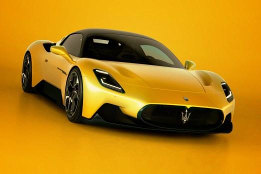 Der Dreizack darf nicht fehlen, auch nicht bei einem MC20 in Giallo Genio (Gelb).© Maserati / trd mobil
