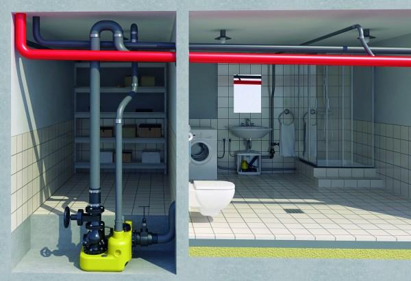 Die Hebeanlagen compli und Hebefix von Jung Pumpen fördern Abwasser aus dem Keller