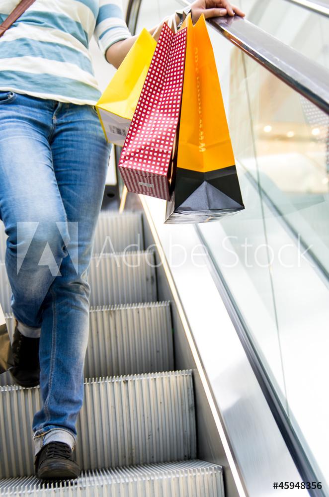 Der Besucherandrang in Einkaufszentren ist am größten
