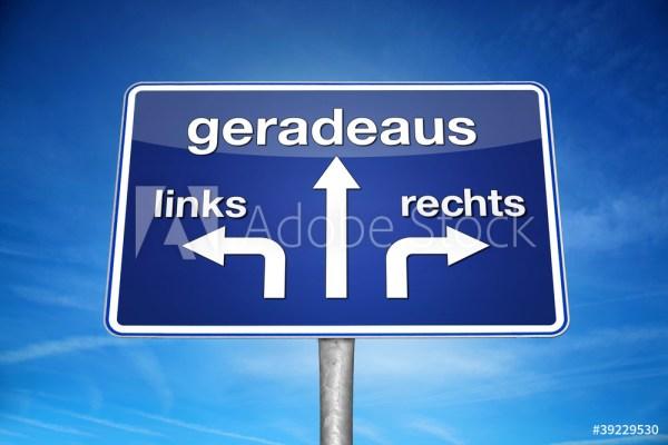 TRD Press Geradeaus Links Rechts