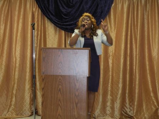 Co- Pastor Shirley Green at Dorothy Hart Community Center