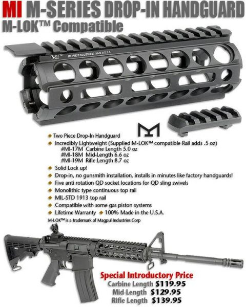 Garde-main M4 standard M-LOK (Image Midwest Industries).