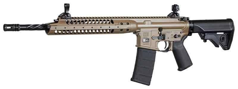 LWRC IC-A5 des forces spéciales suédoises : ni Keymod ni M-LOK, LWRC a carrément pris le parti de supprimer les rails, montables au besoin, comme sur les rails PRI des SPR et Mk12 dès la fin des années 90. Garde-main en deux parties pour montage GL40mm. 14,5 pouces et seulement 3kg à vide (Image LWRC). La prochaine mouture passera au M-LOK et devrait être le futur fusil standard de l'armée suédoise.