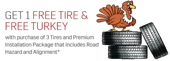 get a tire and turkey for free