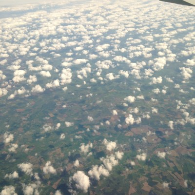 On May 25th, 2016 I set out on a WestJet flight from Toronto to Gatwick Airport UK.  After the long flight I was grateful to see the green fields of rural England and only partly cloudy skies!