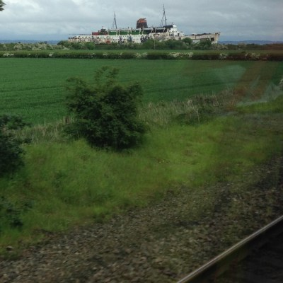 Abeached ship caught my eye as the train sped past. I would have loved to explore it, for the graffiti alone not to mention the arcade games frozen in time inside! Behold the Duke of Lancaster, moored in Llanerch-y-Mor!