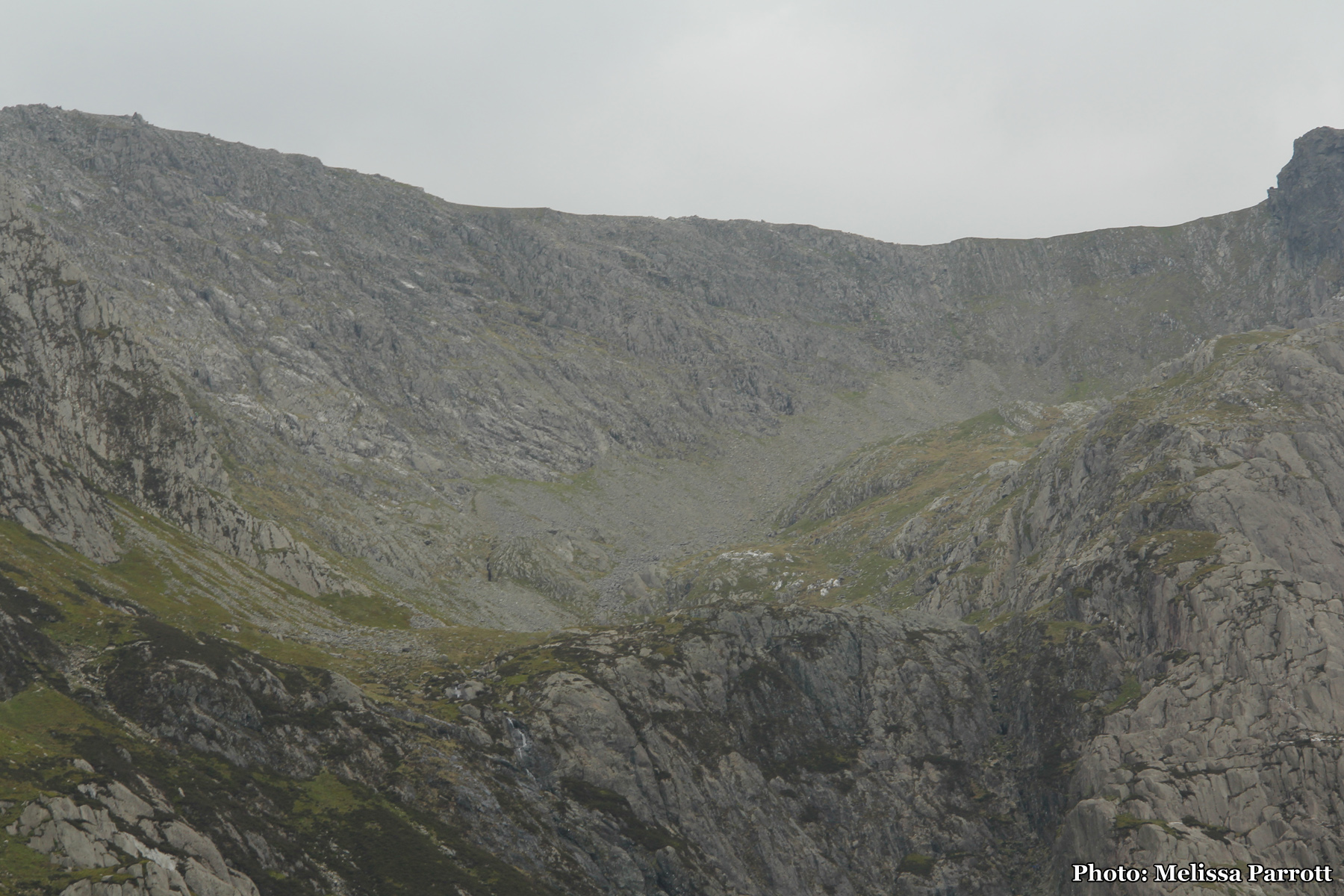 Looking back on the scree of the Nameless Cwm.  I just climbed up that!