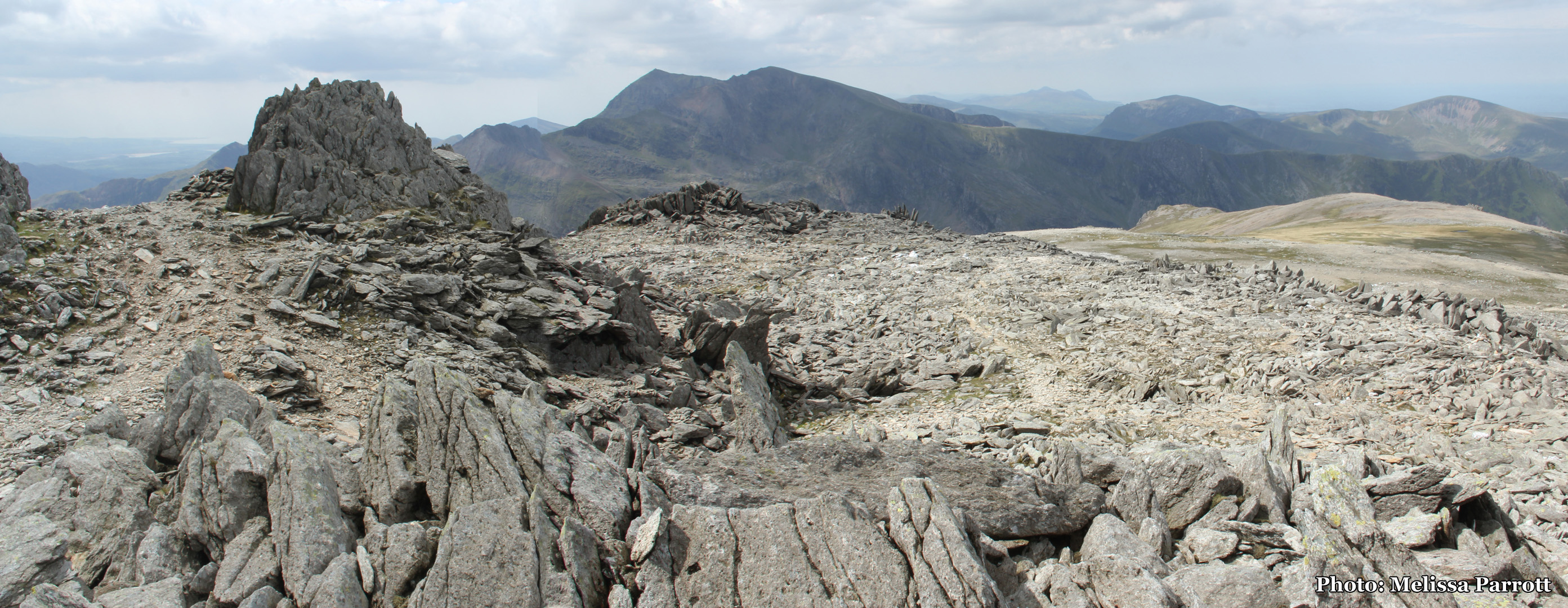 At the top of Glyder Fawr (1001m)