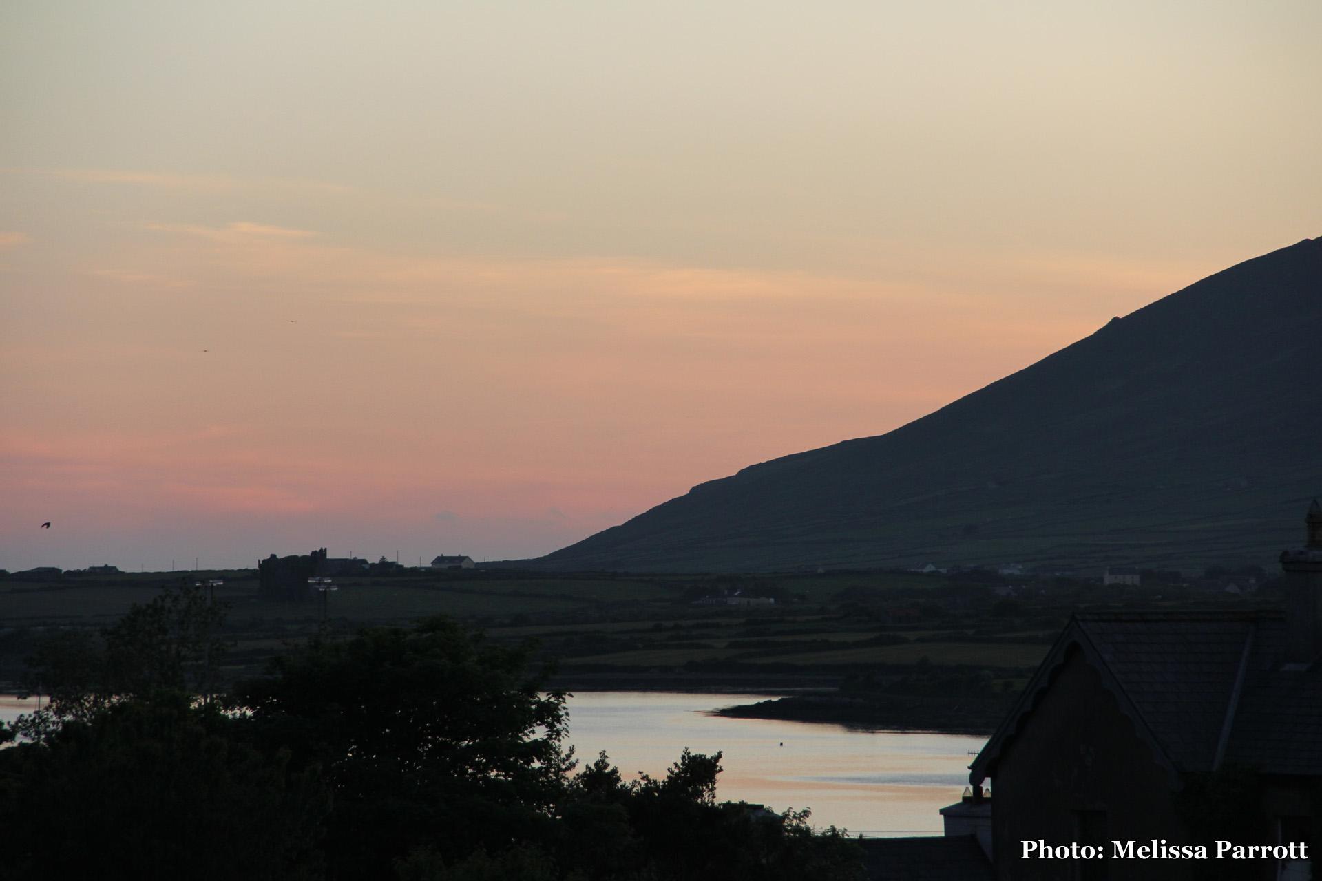 Sun setting over River Fertha