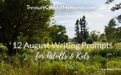 12 August Writing Prompts for Adults & Kids