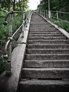 writing about travel includes stairs