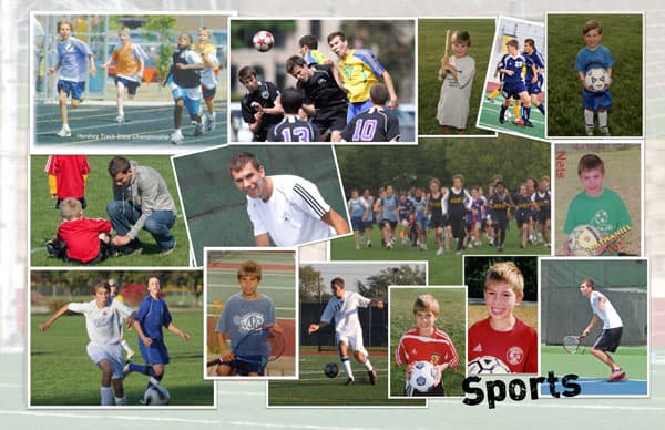 Collage of sports memories