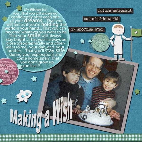 Make a Wish Layout