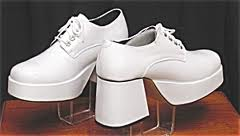 Fashion history white platform shoes