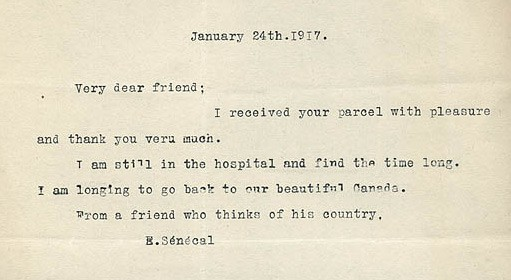 Lives of World War I in letters