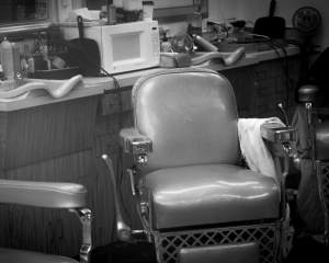 Providing context barber chair