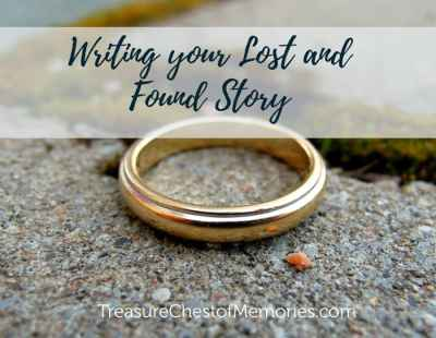Writing lost and found story graphic