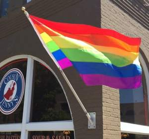 Rainbow flag as a sliver lining