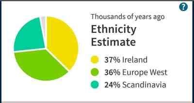 My ethnicity estimate from Ancestry.com