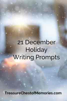 21 Holiday Writing Prompts Pinnable Graphic