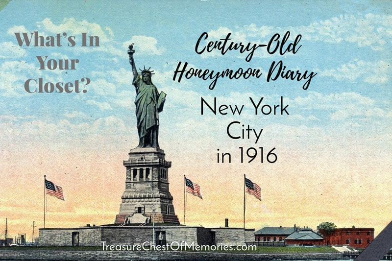 Century-Old Honeymoon Journal: New York City in 1916