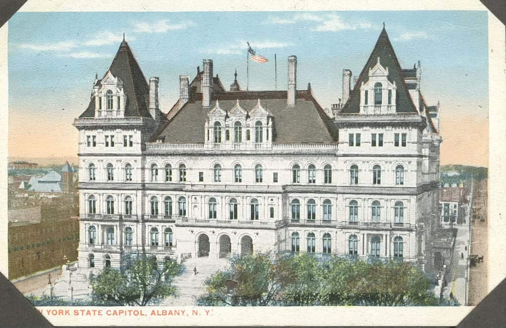 Postcard of Albany Capitol Building in 1916 Public Domain