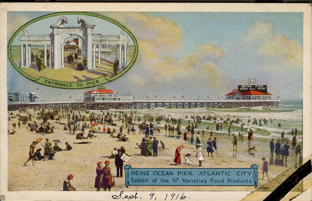 Atlantic City Beach Pier postcard