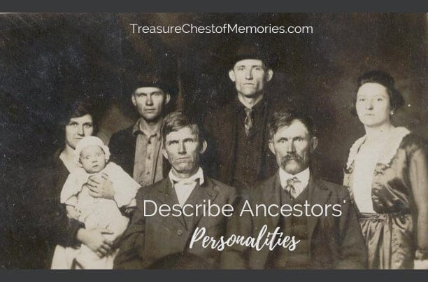 How to describe Ancestors' Personality Graphic