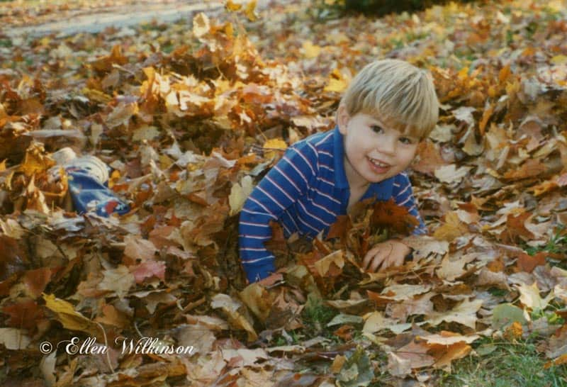 Fall means playing in the leaves