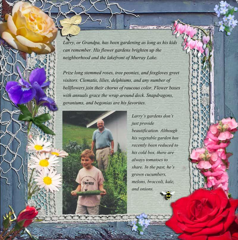 Family Gardener Layout