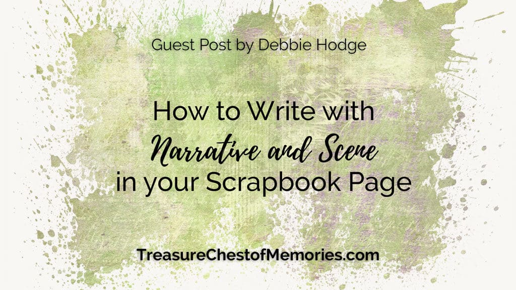 Graphic for How to Write with Narrative and Scene