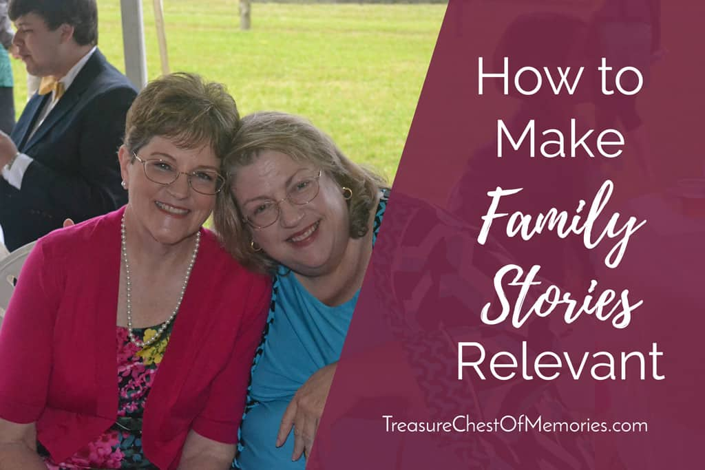 How to make family stories relevant graphic