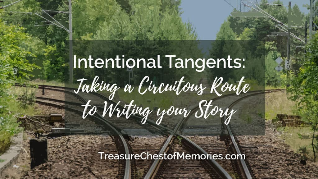 Intentioanl tangents title graphic with train track switches
