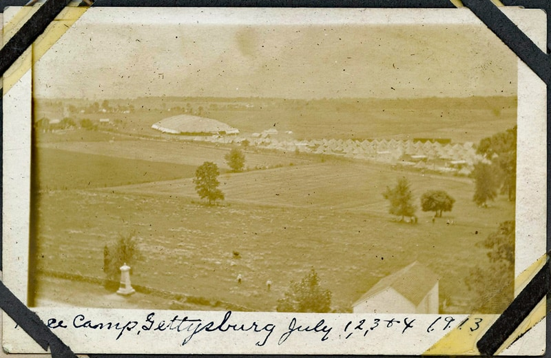 Camps erected at the 1913 Gettysburg Reunion